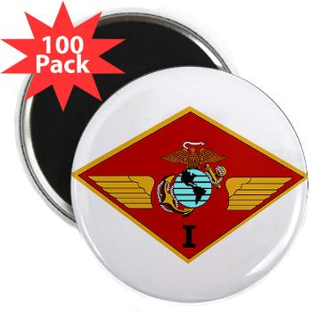 "1MAW - M01 - 01 - 1st Marine Aircraft Wing with Text - 2.25"" Magnet (100 pack)"