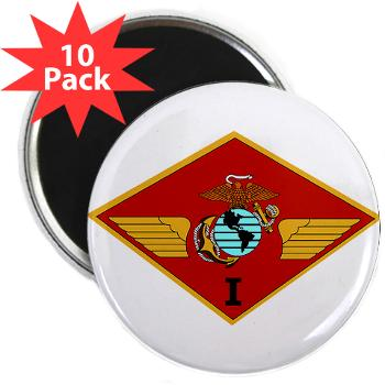 "1MAW - M01 - 01 - 1st Marine Aircraft Wing with Text - 2.25"" Magnet (10 pack)"