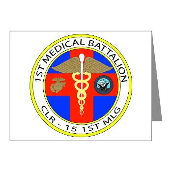 1MB - M01 - 02 - 1st Medical Battalion Note Cards (Pk of 20)