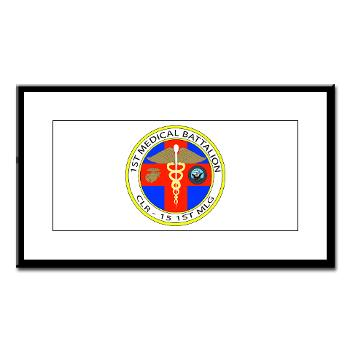 1MB - M01 - 02 - 1st Medical Battalion Small Framed Print