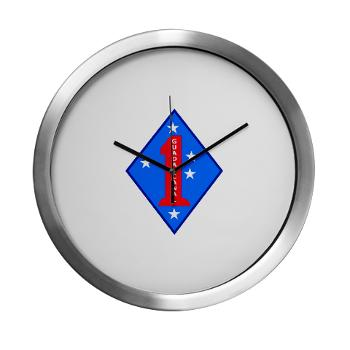 1MD - M01 - 03 - 1st Marine Division - Modern Wall Clock