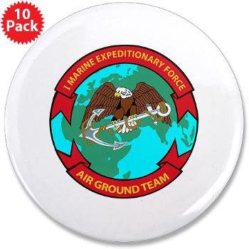 "1MEF - M01 - 01 - 1st Marine Expeditionary Force - 3.5"" Button (10 pack)"