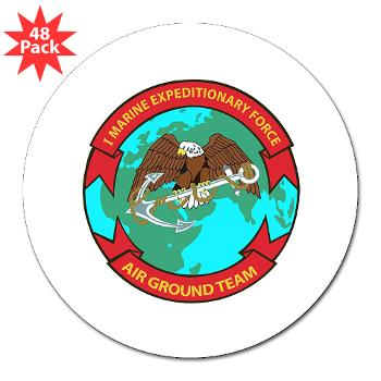 "1MEF - M01 - 01 - 1st Marine Expeditionary Force - 3"" Lapel Sticker (48 pk)"