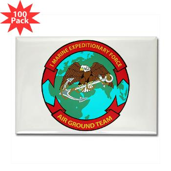 1MEF - M01 - 01 - 1st Marine Expeditionary Force - Rectangle Magnet (100 pack)