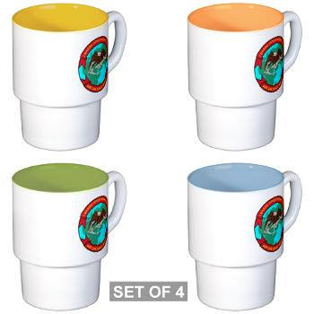 1MEF - M01 - 03 - 1st Marine Expeditionary Force - Stackable Mug Set (4 mugs)