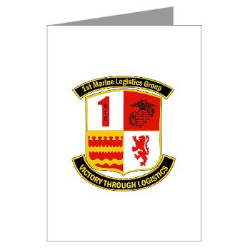 1MLG - M01 - 02 - 1st Marine Logistics Group - Greeting Cards (Pk of 10)