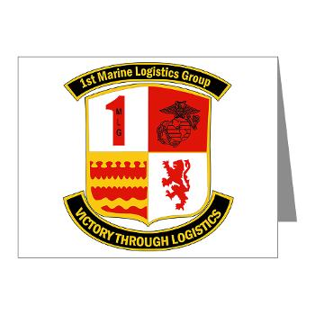 1MLG - M01 - 02 - 1st Marine Logistics Group - Note Cards (Pk of 20)