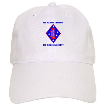 1MR - A01 - 01 - 1st Marine Regiment with Text - Cap