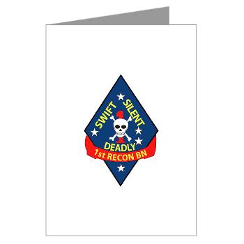 1RB - M01 - 02 - 1st Reconnaissance Battalion Greeting Cards (Pk of 20)