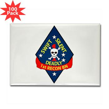 1RB - M01 - 01 - 1st Reconnaissance Battalion Rectangle Magnet (100 pack)