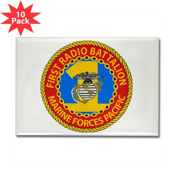 1RBn - M01 - 01 - 1st Radio Battalion Rectangle Magnet (10 pack)