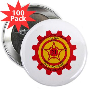 "21CLC - M01 - 01 - 21st Combat Logistics Coy - 2.25"" Button (100 pack)"