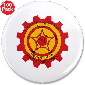 "21CLC - M01 - 01 - 21st Combat Logistics Coy - 3.5"" Button (100 pack)"