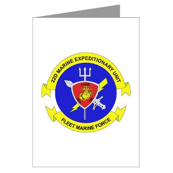 22MEU - M01 - 02 - 22nd Marine Expeditionary Unit - Greeting Cards (Pk of 20)