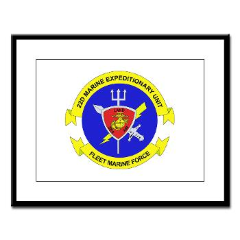 22MEU - M01 - 02 - 22nd Marine Expeditionary Unit - Large Framed Print