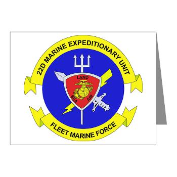 22MEU - M01 - 02 - 22nd Marine Expeditionary Unit - Note Cards (Pk of 20)