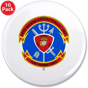 "24MEU - M01 - 01 - 24th Marine Expeditionary Unit - 3.5"" Button (10 pack)"