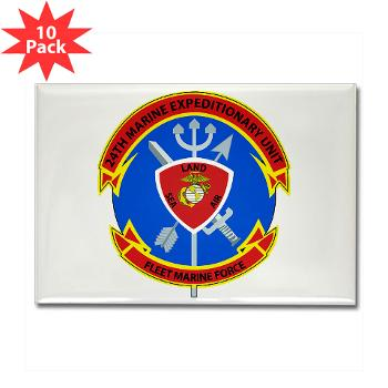 24MEU - M01 - 01 - 24th Marine Expeditionary Unit - Rectangle Magnet (10 pack)