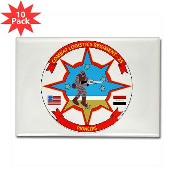 25CLR - M01 - 01 - 25th Combat Logistics Regiment - Rectangle Magnet (10 pack)