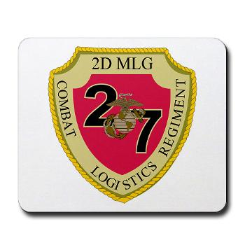 27CLR - M01 - 03 - 27th Combat Logistics Regiment - Mousepad