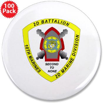 "2B10M - M01 - 01 - 2nd Battalion 10th Marines - 3.5"" Button (100 pack)"