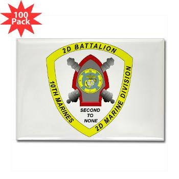 2B10M - M01 - 01 - 2nd Battalion 10th Marines - Rectangle Magnet (100 pack)