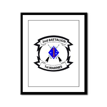 2B1M - M01 - 02 - 2nd Battalion - 1st Marines - Framed Panel Print
