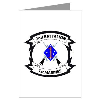 2B1M - M01 - 02 - 2nd Battalion - 1st Marines - Greeting Cards (Pk of 20)
