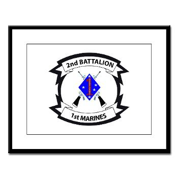 2B1M - M01 - 02 - 2nd Battalion - 1st Marines - Large Framed Print