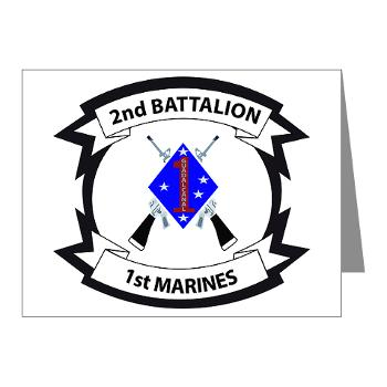2B1M - M01 - 02 - 2nd Battalion - 1st Marines - Note Cards (Pk of 20)