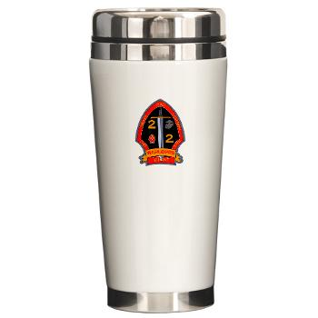 2B2M - M01 - 03 - 2nd Battalion - 2nd Marines Ceramic Travel Mug