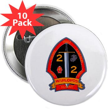 "2B2M - M01 - 01 - 2nd Battalion - 2nd Marines 2.25"" Button (10 pack)"