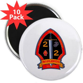 "2B2M - M01 - 01 - 2nd Battalion - 2nd Marines 2.25"" Magnet (10 pack)"
