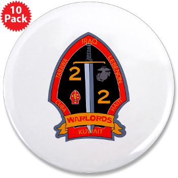"2B2M - M01 - 01 - 2nd Battalion - 2nd Marines 3.5"" Button (10 pack)"