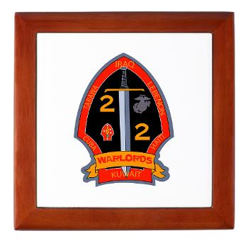 2B2M - M01 - 03 - 2nd Battalion - 2nd Marines Keepsake Box