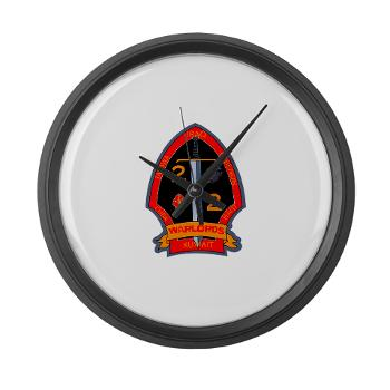 2B2M - M01 - 03 - 2nd Battalion - 2nd Marines Large Wall Clock