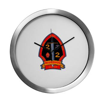 2B2M - M01 - 03 - 2nd Battalion - 2nd Marines Modern Wall Clock