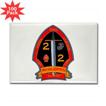 2B2M - M01 - 01 - 2nd Battalion - 2nd Marines Rectangle Magnet (100 pack)