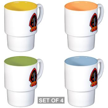 2B2M - M01 - 03 - 2nd Battalion - 2nd Marines Stackable Mug Set (4 mugs)