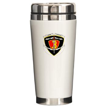 2B3M - M01 - 03 - 2nd Battalion 3rd Marines Ceramic Travel Mug