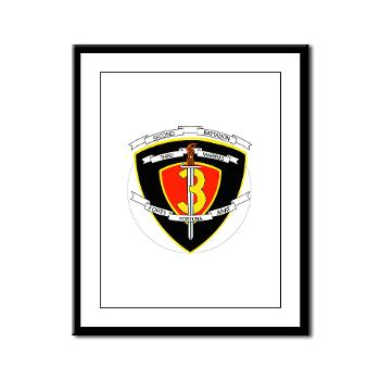 2B3M - M01 - 02 - 2nd Battalion 3rd Marines Framed Panel Print