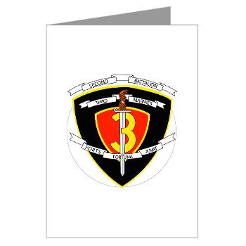 2B3M - M01 - 02 - 2nd Battalion 3rd Marines Greeting Cards (Pk of 10)