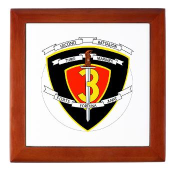 2B3M - M01 - 03 - 2nd Battalion 3rd Marines Keepsake Box