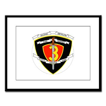 2B3M - M01 - 02 - 2nd Battalion 3rd Marines Large Framed Print