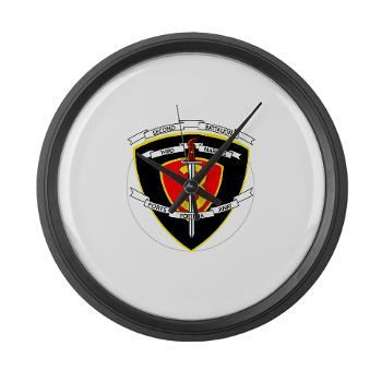 2B3M - M01 - 03 - 2nd Battalion 3rd Marines Large Wall Clock