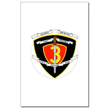 2B3M - M01 - 02 - 2nd Battalion 3rd Marines Mini Poster Print