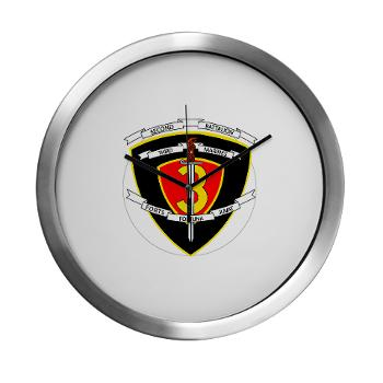2B3M - M01 - 03 - 2nd Battalion 3rd Marines Modern Wall Clock