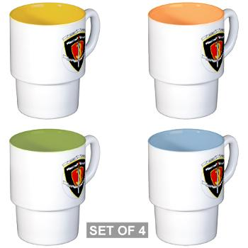 2B3M - M01 - 03 - 2nd Battalion 3rd Marines Stackable Mug Set (4 mugs)