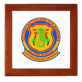 2B4M - M01 - 03 - 2nd Battalion 4th Marines - Keepsake Box