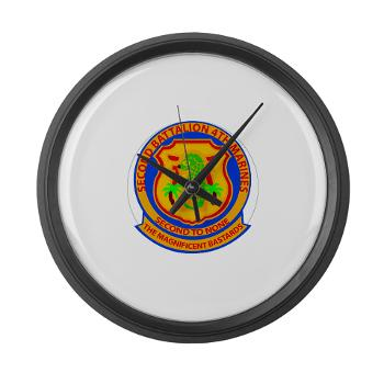 2B4M - M01 - 03 - 2nd Battalion 4th Marines - Large Wall Clock